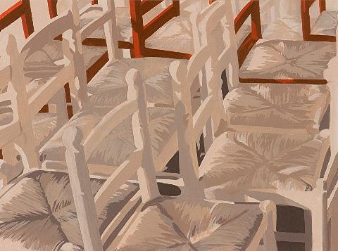 Chairs On The Market Painting by Leone Holzhaus