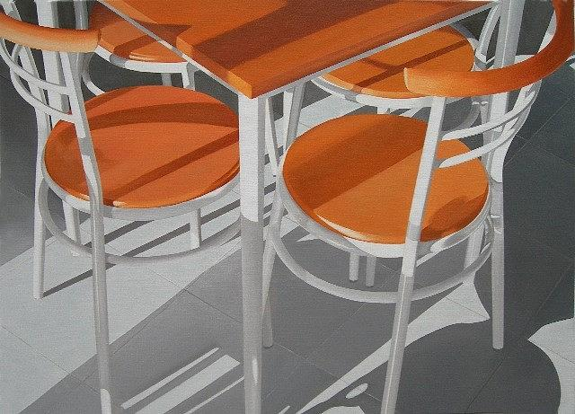 Chairs With Long Shadows Painting by Leone Holzhaus