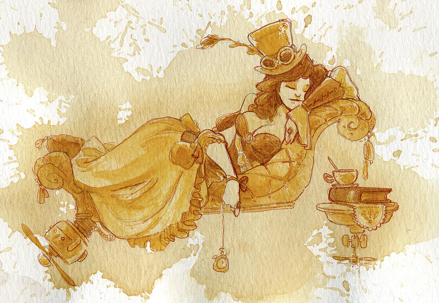 Steampunk Painting - Chaise by Brian Kesinger
