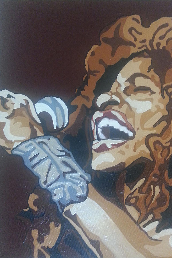 Chaka Khan Painting - Chaka Khan by Rachel Natalie Rawlins