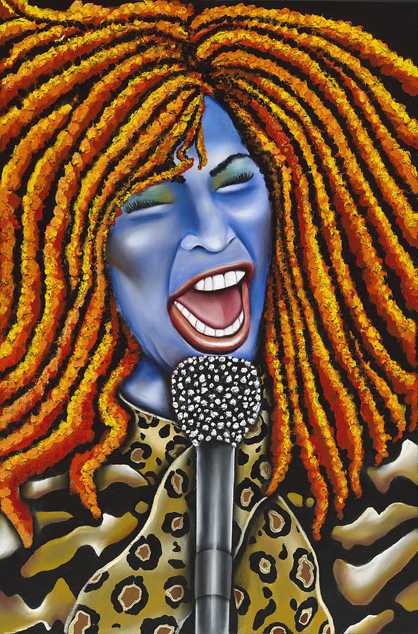 Portrait Painting - Chaka by Nannette Harris