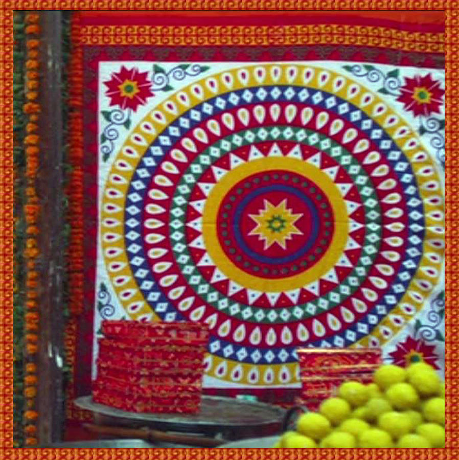 Chakra large format fabric embroidery used for wall decorations flower mixed media chakra large format fabric embroidery used for wall decorations and during wedding amipublicfo Gallery