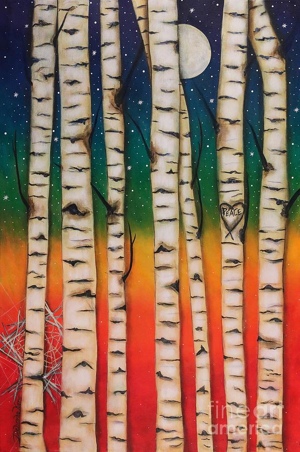 Chakras Painting - Chakra Rainbow Forest by Deborha Kerr