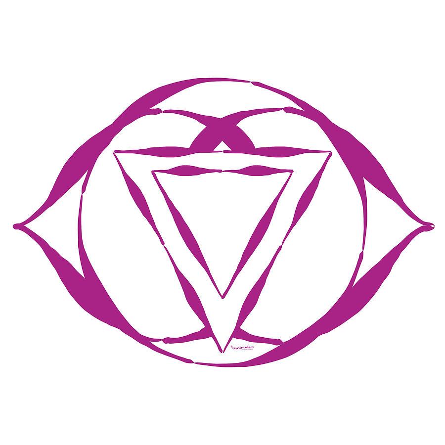 Purple Digital Art - 7 Crown Chakra by Linda Cornelius