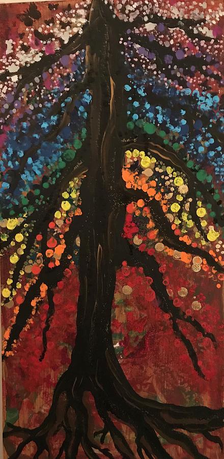 Chakra tree by Christine Paris
