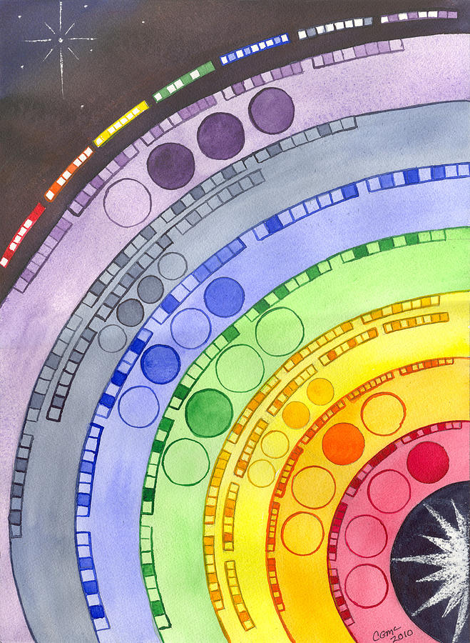 Chakra Painting - Chakras by Catherine G McElroy