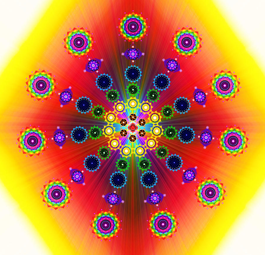 Colorful Digital Art - Chakras by The Awakening Art