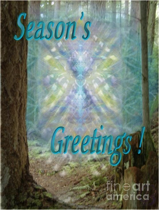 Tree Digital Art - Chalice-tree In The Forest V2 Holiday Card by Christopher Pringer
