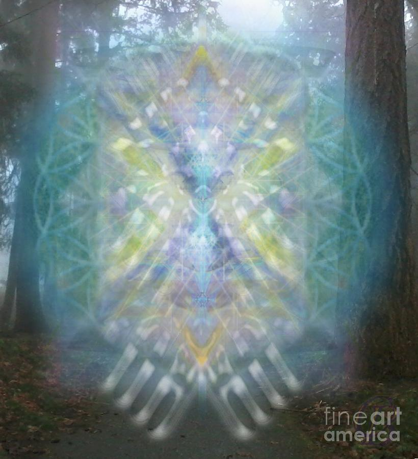 Tree Digital Art - Chalice-tree Spirit In The Forest V1 by Christopher Pringer