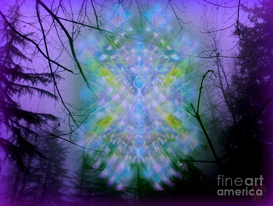 Tree Digital Art - Chalice-tree Spirit In The Forest V1a by Christopher Pringer