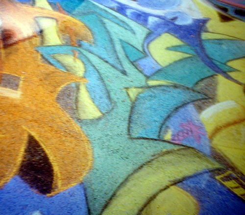 Chalk Mixed Media - Chalk Mural Sample by Devin Moore