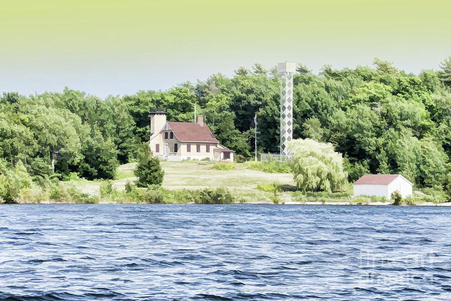 Chambers Island Photograph - Chambers Island Lighthouse Door County Wisconsin by Nikki Vig