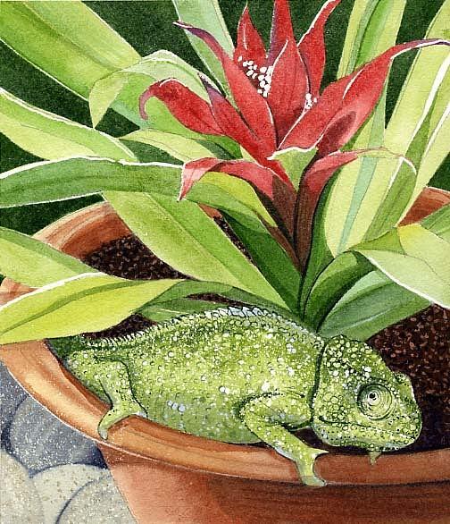 Chameleon Painting - Chameleon by Denny Bond