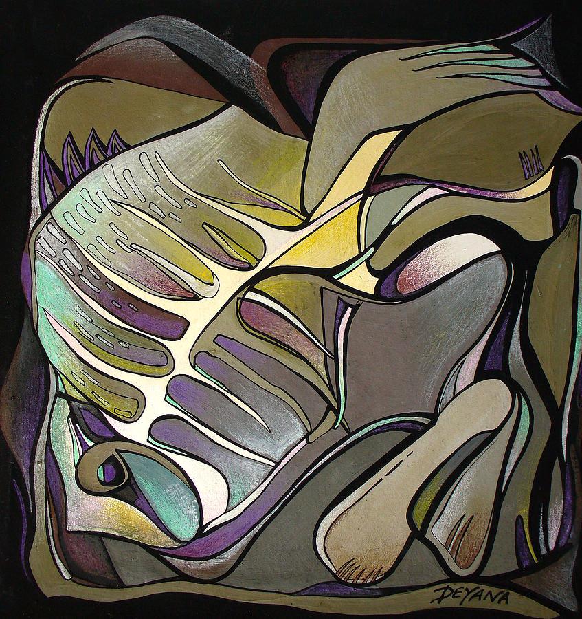 Fish Painting - Chameleon Fish by Deyana Deco