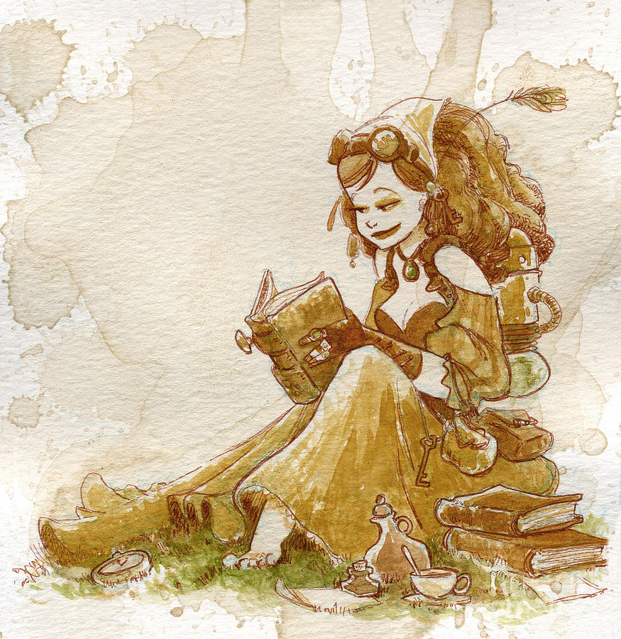 Steampunk Painting - Chamomile 2 by Brian Kesinger