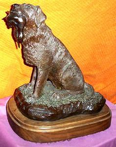 Hunting Dog Sculpture - Champ by Larry Wetherholt