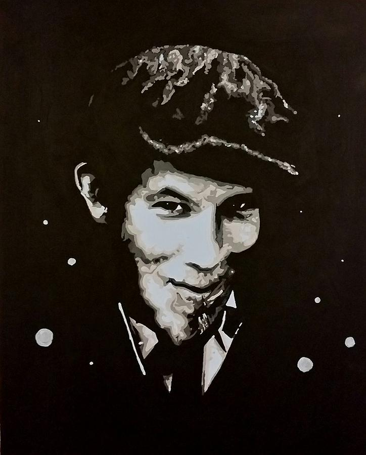 Tom Waits Painting - Champage For My Real Friends by Carole Hutchison