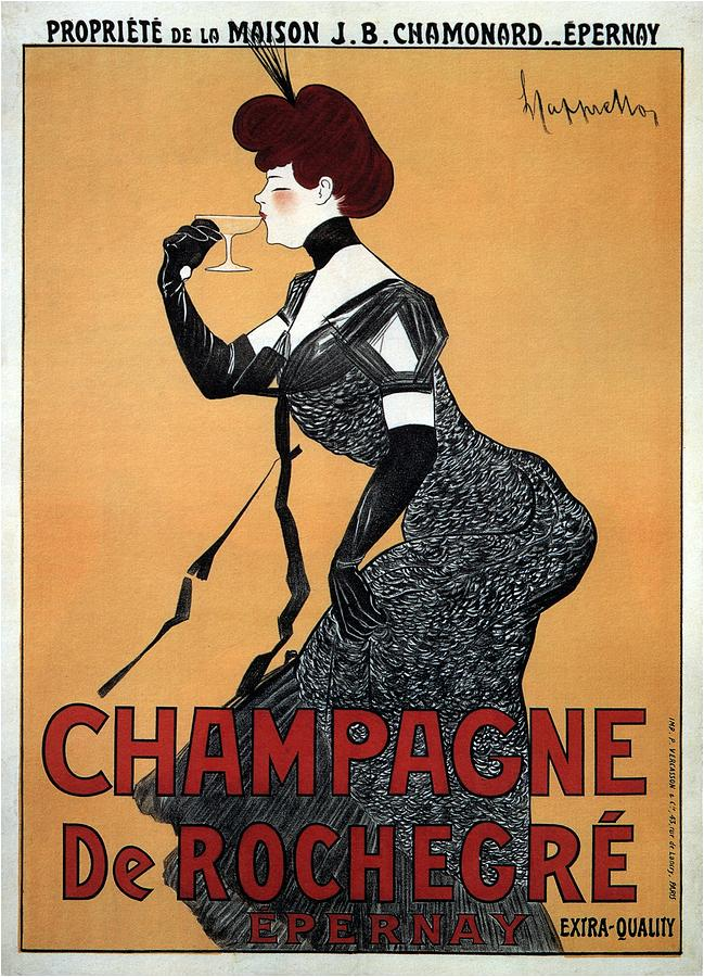 Champagne De Rochegre - Epernay, France - Vintage Advertising Poster Mixed Media