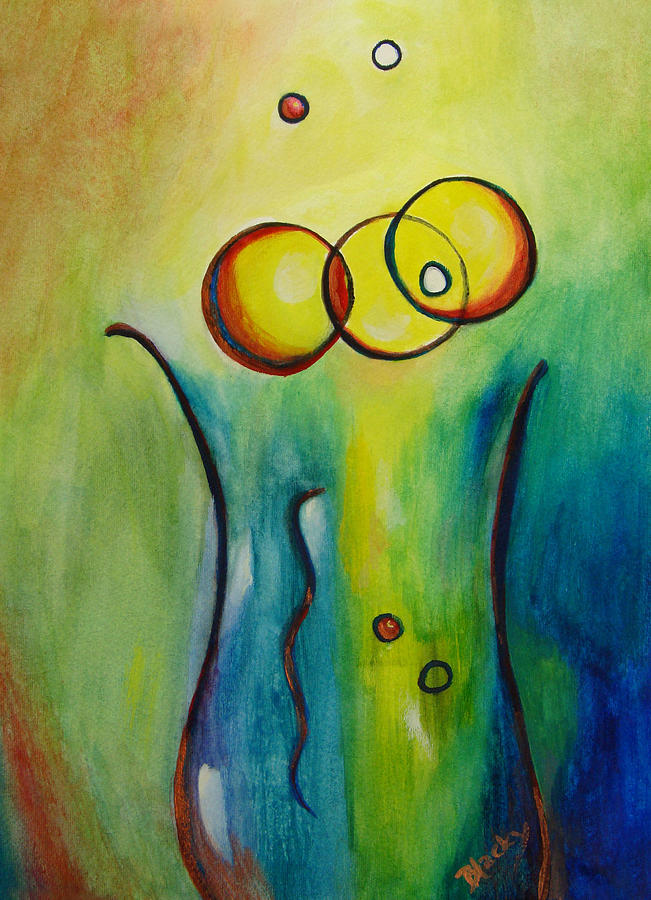Abstract Painting - Champagne by Donna Blackhall