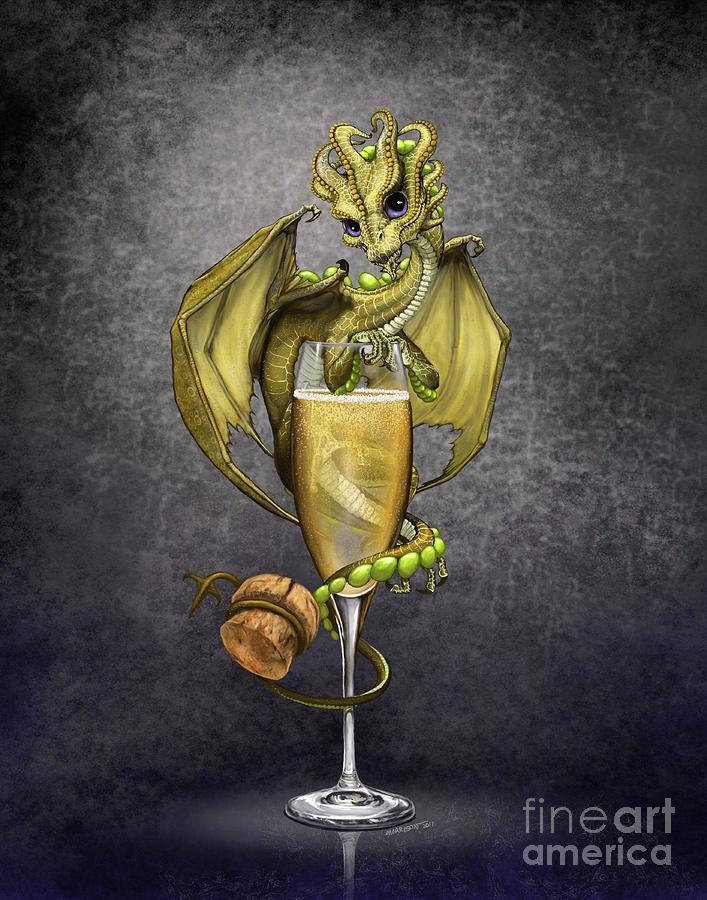 Dragon Digital Art - Champagne Dragon by Stanley Morrison