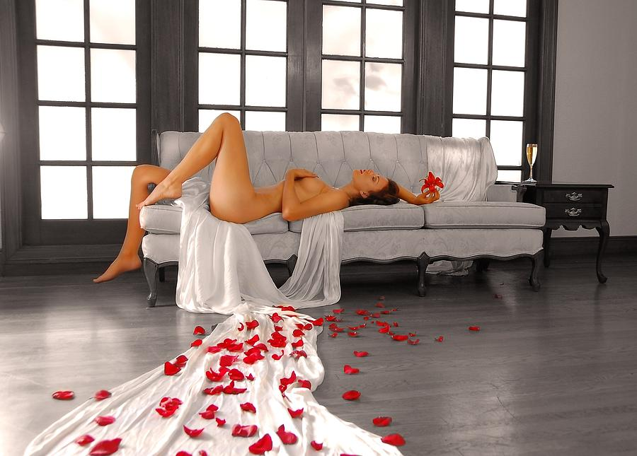 Nude Photograph - Champagne Dreams by Curt Johnson