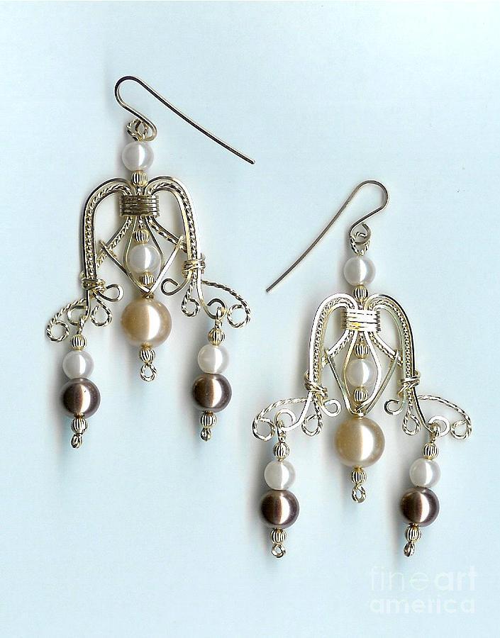 Earrings Jewelry - Champagne Dreams by JoLen Confer