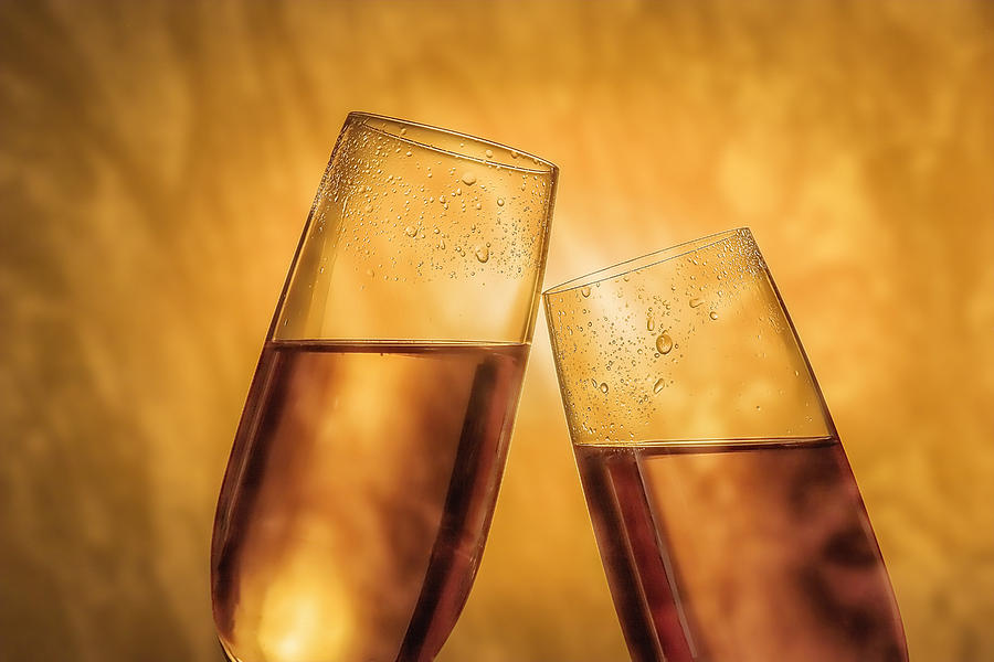 Alcohol Photograph - Champagne Toast by Tom Mc Nemar