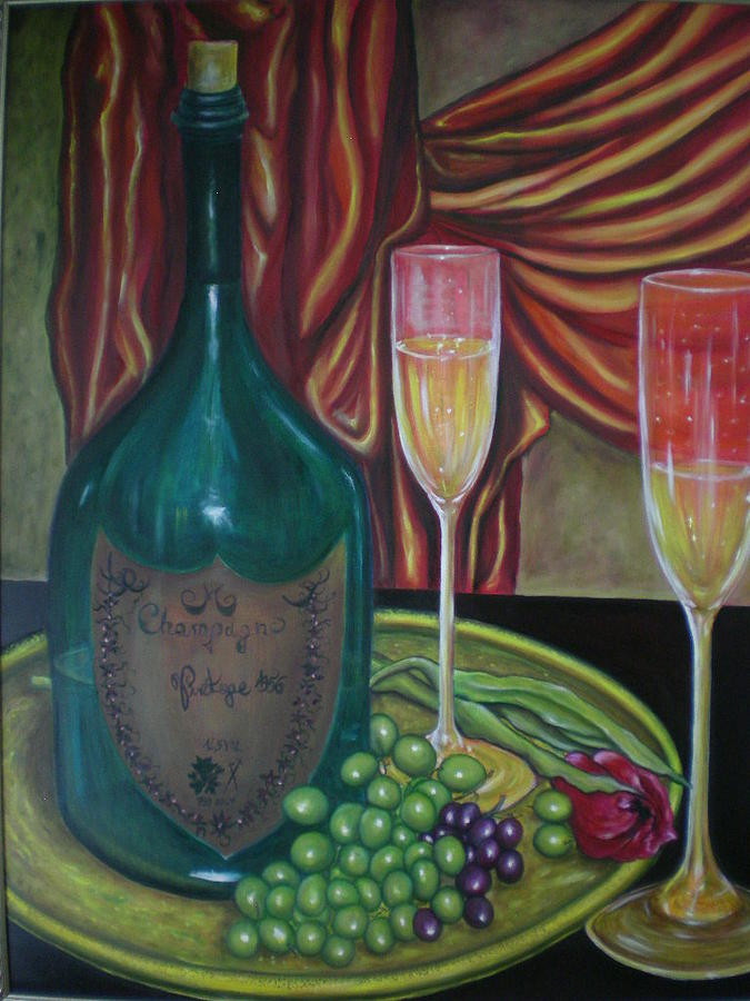 Nature Painting - Champagner by Romolo Liuzzo