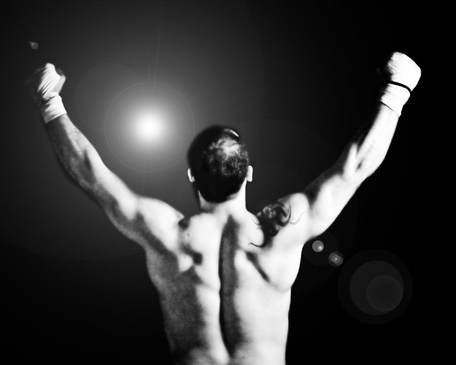 Boxer Photograph - Champion by Dean Farrell