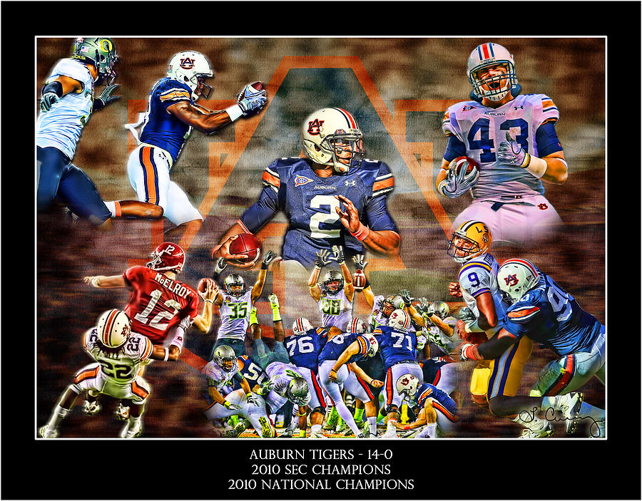 Auburn Digital Art - Champions by Lance Curry