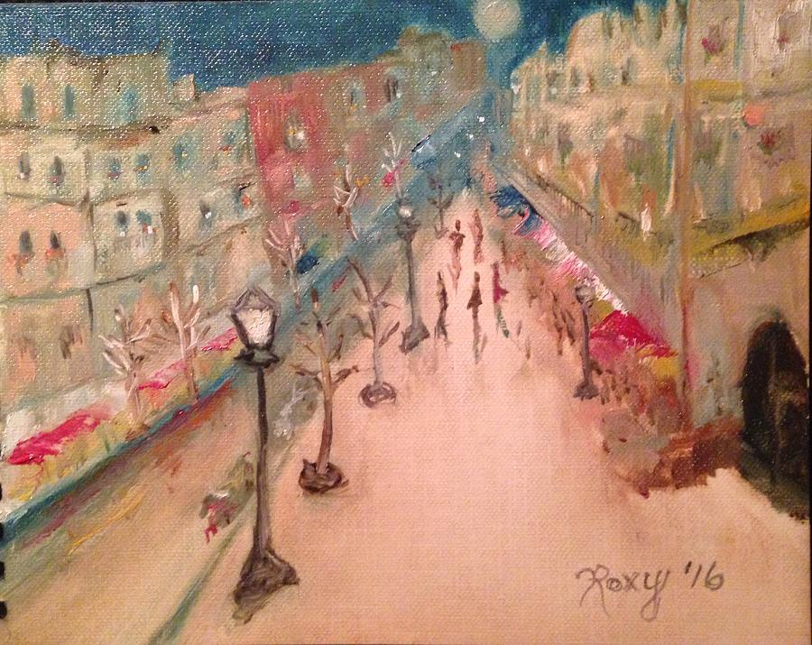 Impressionism Painting - Champs De Elysee At Twilight. #paris by Roxy Rich