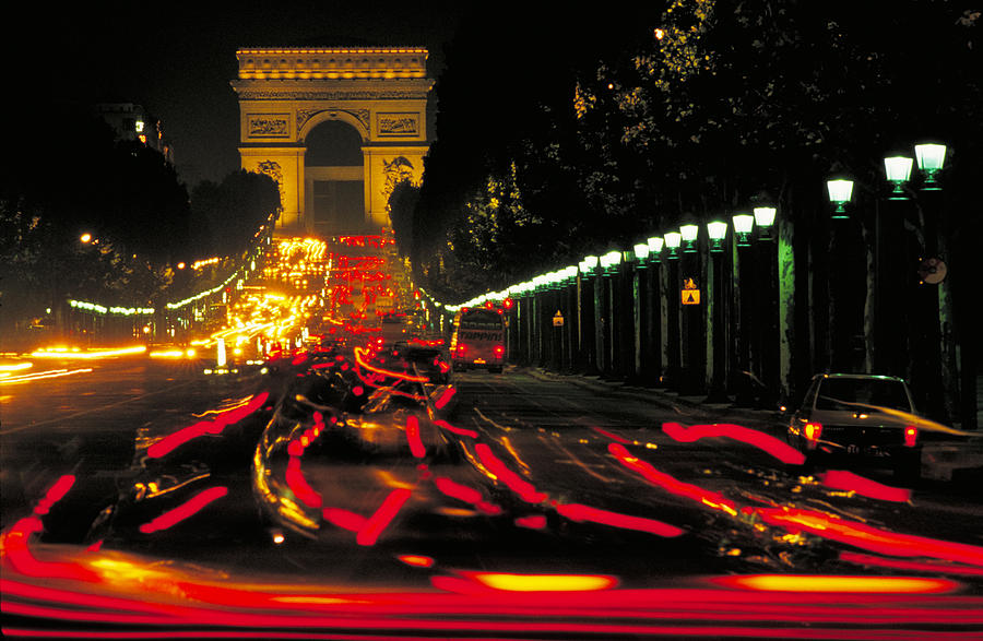France Photograph - Champs Elysee In Paris by Carl Purcell