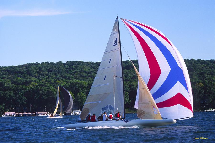 Sailboat Photograph - Champs - Lake Geneva Wisconsin by Bruce Thompson