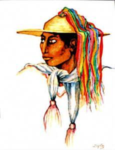 Chamula Painting by Mary Louise Lopez