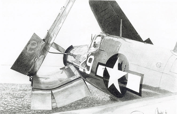 Chance Vought Fg-1d Corsair 3111 Print by Sidney Chambers