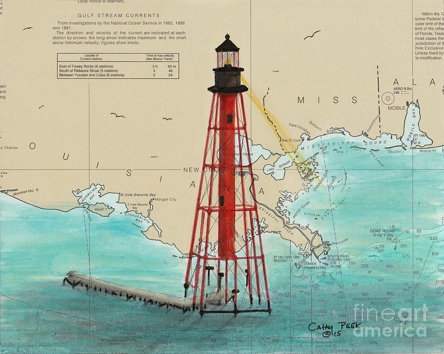 Chandeleur Island Lighthouse La Cathy k Nautical Chart Map Art on gulf of mexico islands map, alaska islands map, ga islands map, maui islands map, new orleans map, louisiana map, mississippi islands map, africa islands map, sanibel islands map, breton sound map, roanoke islands map, ocracoke islands map, barataria bay map, corpus christi map, grand isle map, mississippi gulf coast map, sunshine islands map, gulf coast barrier islands map, san juan islands map,