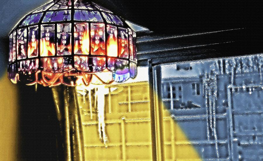 Chandelier - Warm Glow Photograph by Steve Ohlsen