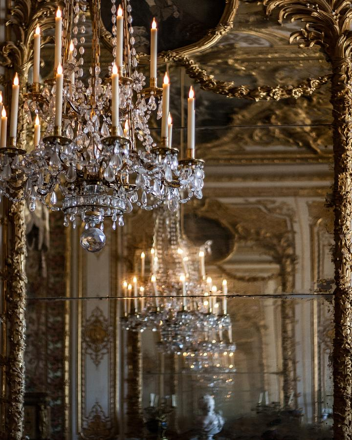 Versailles Photograph - Chandelier At Versailles by Georgia Fowler