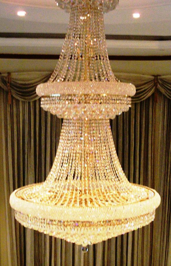 Chandelier Photograph - Chandelier Hanging Tall by Piety Dsilva