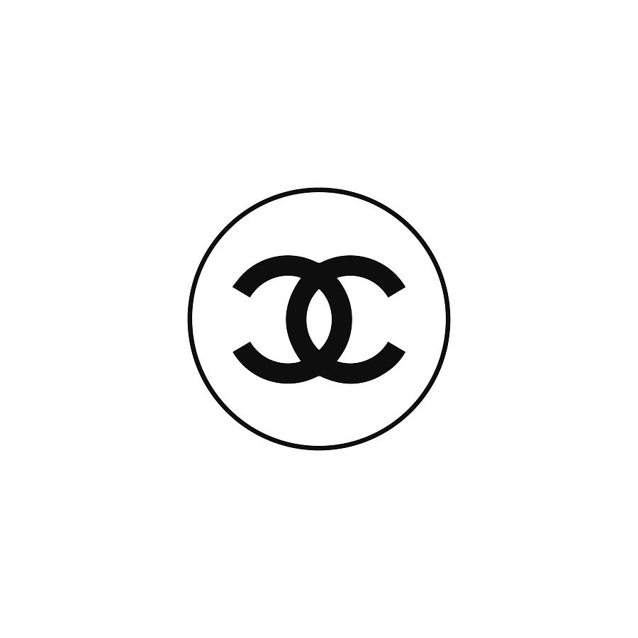 Chanel Logo Digital Art - Chanel - Black And White - Lifestyle And Fashion by TUSCAN Afternoon