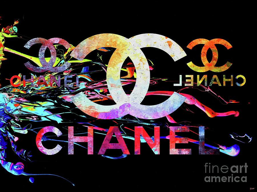 Vintage Mixed Media - Chanel Black by Daniel Janda