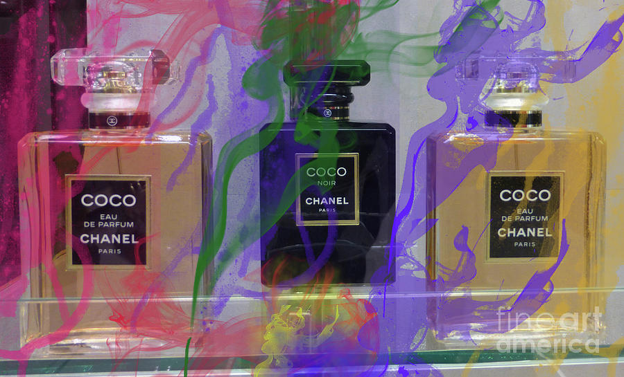 Chanel Coco Mixed Media - Chanel Coco Abstract by To-Tam Gerwe
