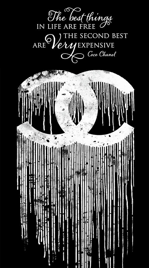 chanel dripping poster chanel print chanel citation chanel