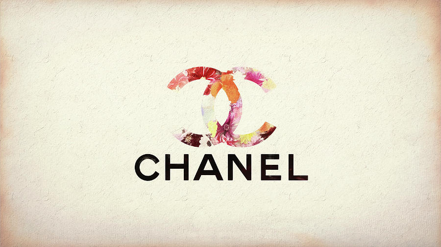 Chanel Floral Texture Mixed Media