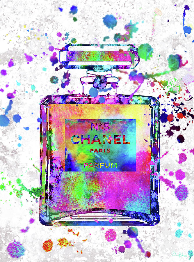 Chanel Painting - Chanel N.5 Colorful 5 by Del Art