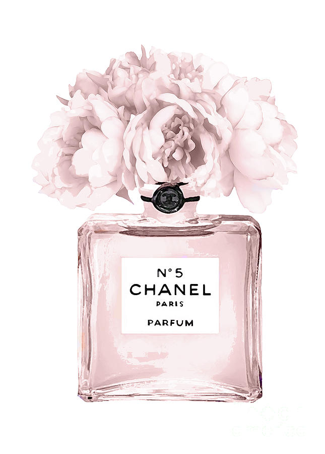 Chanel Mixed Media - Chanel N.5 Perfume 9 by Del Art