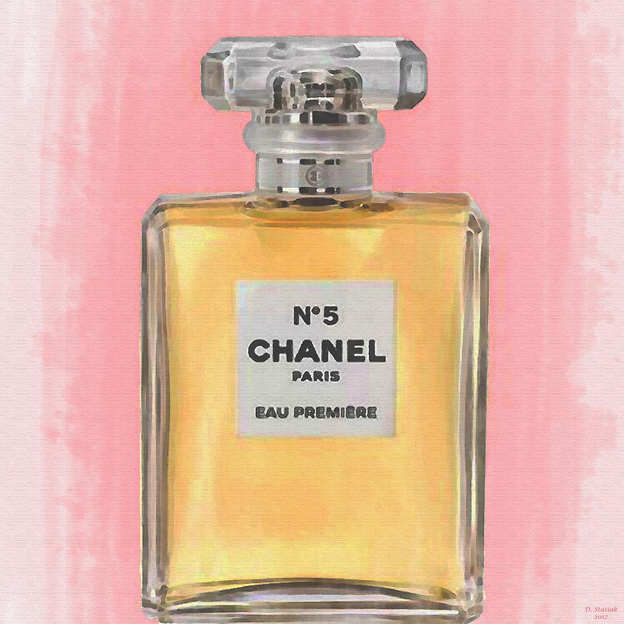 Chanel No 5 Eau De Parfum Digital Art By David Stasiak