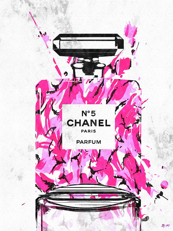 Vintage Mixed Media - Chanel No. 5 Pink Army by Daniel Janda