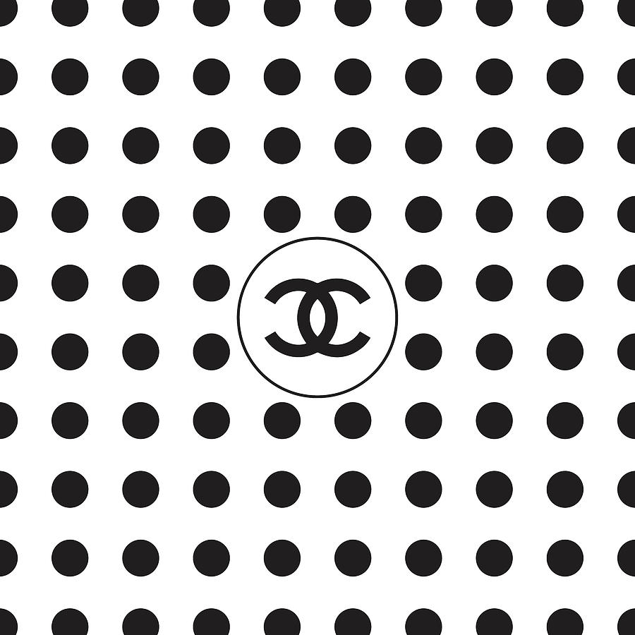 Chanel Digital Art - Chanel - Polka Dot Pattern 01 - Fashion And Lifestyle by TUSCAN Afternoon