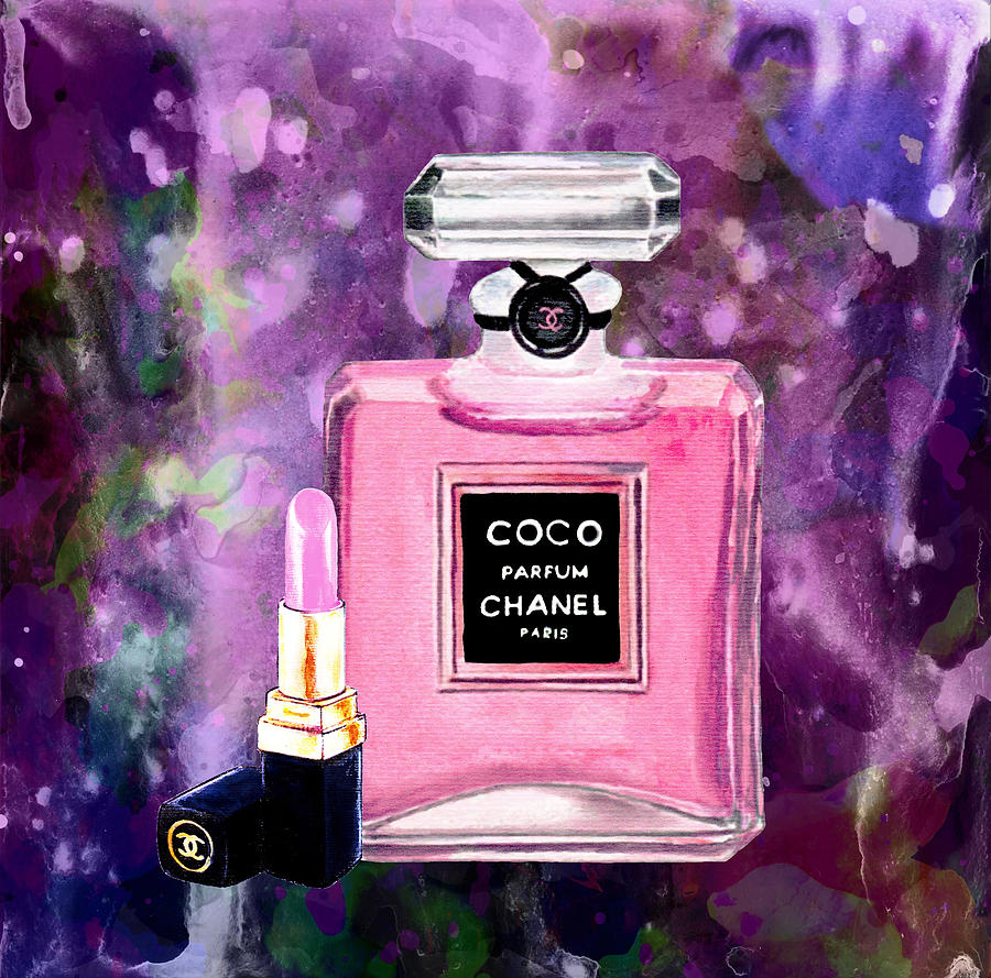 chanel poster chanel print chanel pink perfume print